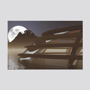 Moonset Mini Poster Print