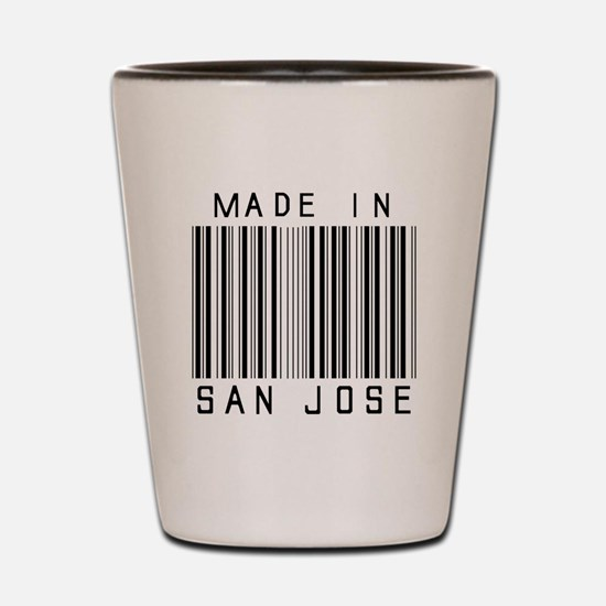 San Jose Barcode Shot Glass