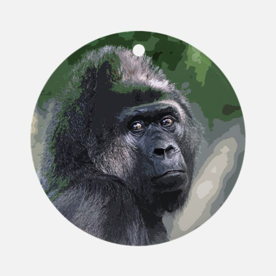 Unique Gorilla Round Ornament