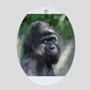 Gorilla_2014_0901 Ornament (Oval)