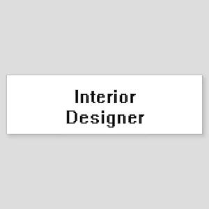 Interior Designer Retro Digital Job Bumper Sticker