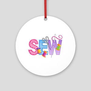 SEW MONTAGE Ornament (Round)