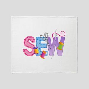 SEW MONTAGE Throw Blanket