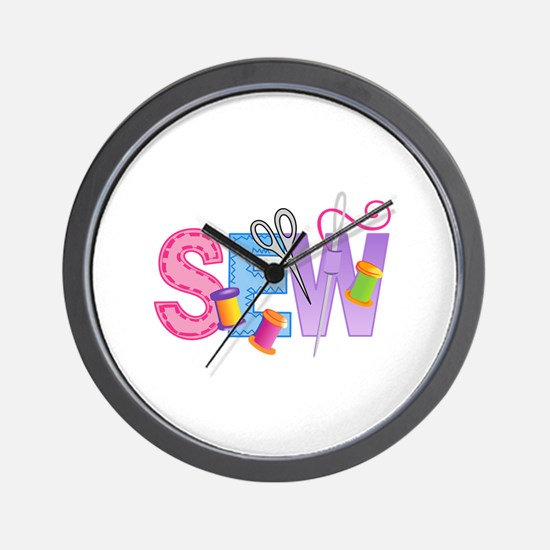 SEW MONTAGE Wall Clock
