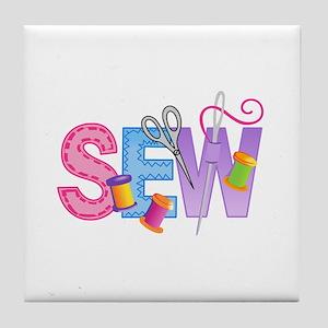 SEW MONTAGE Tile Coaster