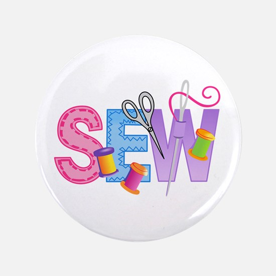 """LARGE SEW MONTAGE 3.5"""" Button"""