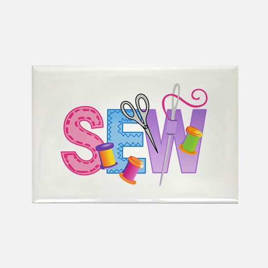 LARGE SEW MONTAGE Magnets