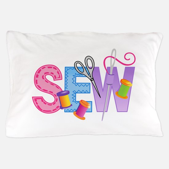 LARGE SEW MONTAGE Pillow Case