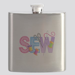 LARGE SEW MONTAGE Flask