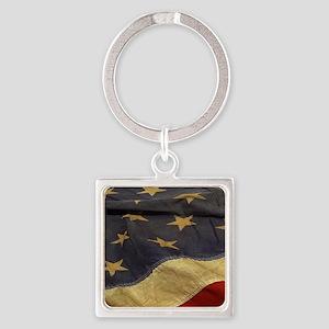 Distressed Vintage American Flag Keychains