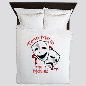 TAKE ME TO THE MOVIES Queen Duvet