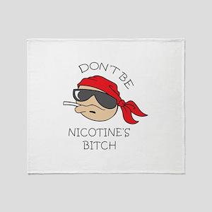DONT SMOKE Throw Blanket