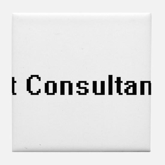 It Consultant Retro Digital Job Desig Tile Coaster