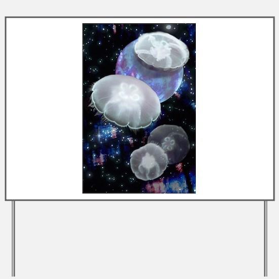 Moon Jellies 2 Yard Sign
