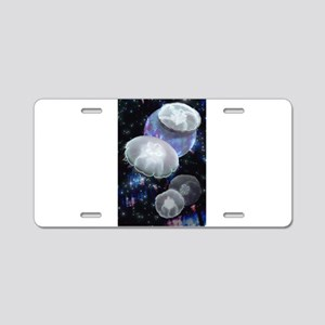 Moon Jellies 2 Aluminum License Plate