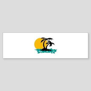 ISLAND PALMS Bumper Sticker