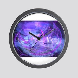 The Moon-Called Sea Wall Clock