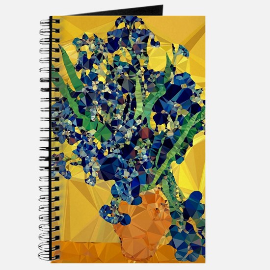 Van Gogh Irises Yellow Background Journal