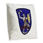 USS FORSTER Burlap Throw Pillow