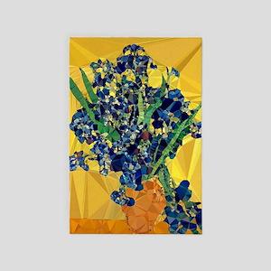 Van Gogh Irises Yellow Background 4' X 6'