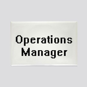 Operations Manager Retro Digital Job Desig Magnets