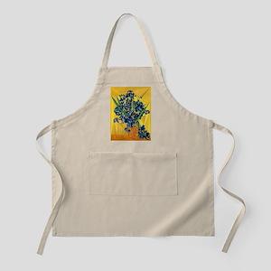 Van Gogh Irises Yellow Background Light Apron
