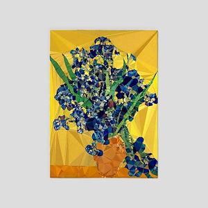 Van Gogh Irises Yellow Background 5'x7'are