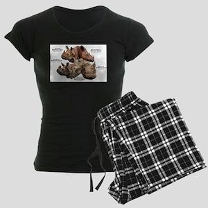 Rhinos of the World Women's Dark Pajamas
