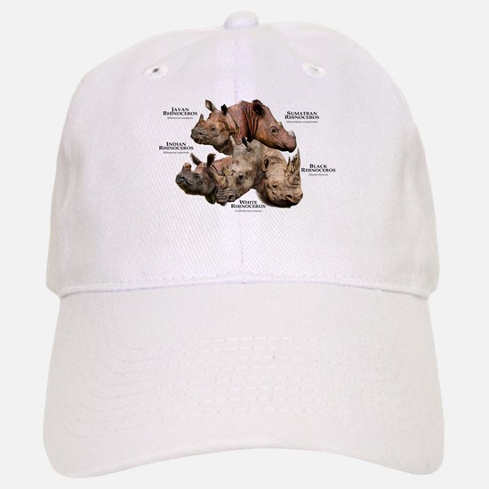 Rhinos of the World Baseball Baseball Cap