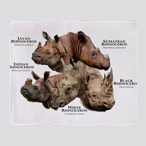 Rhinos of the World Throw Blanket