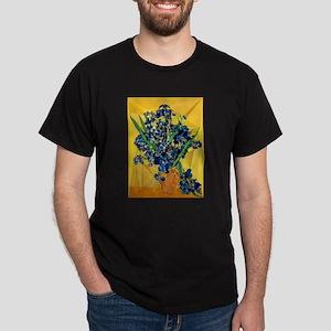 Van Gogh Irises Yellow Background T-Shirt