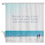 Beach Seashore Friendship Quote Shower Curtain