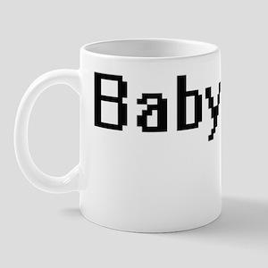 Babysitter Retro Digital Job Design Mug