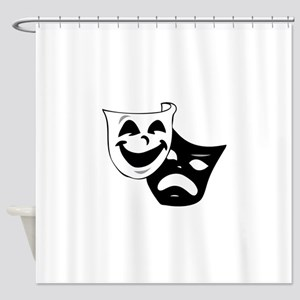 Tragedy Comedy Masks Shower Curtain