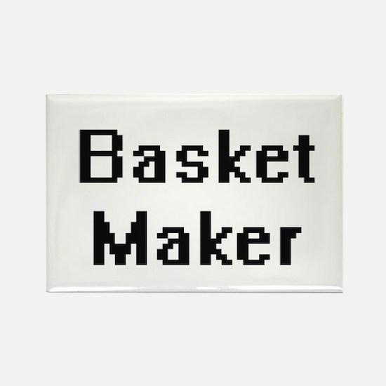 Basket Maker Retro Digital Job Design Magnets