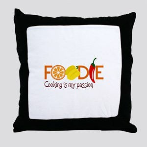 Cooking Is My Passion Throw Pillow