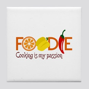 Cooking Is My Passion Tile Coaster