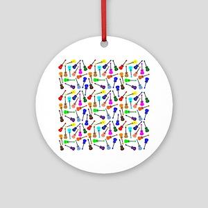 Ukuleles Ornament (Round)