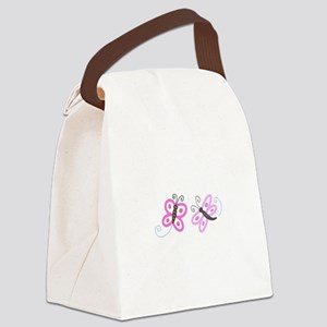 FLYING INSECT APPLIQUES Canvas Lunch Bag