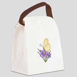 BUTTERFLY APPLIQUE Canvas Lunch Bag