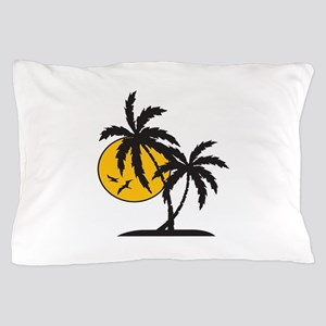 PALMS AND SUN Pillow Case