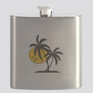 PALMS AND SUN Flask
