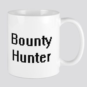 Bounty Hunter Retro Digital Job Design Mugs