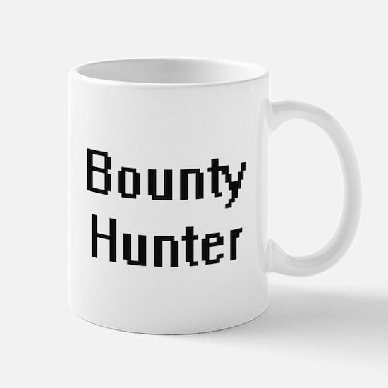 Bounty Hunter Retro Digital Job Design Mugs