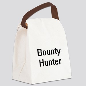 Bounty Hunter Retro Digital Job D Canvas Lunch Bag