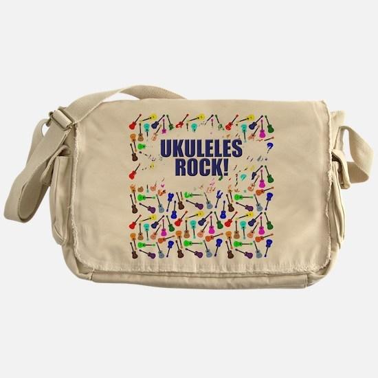 Purple Ukulele Messenger Bag