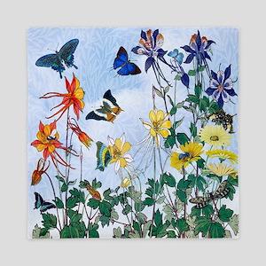 Dazzlin' Butterfly Columbine Queen Duvet