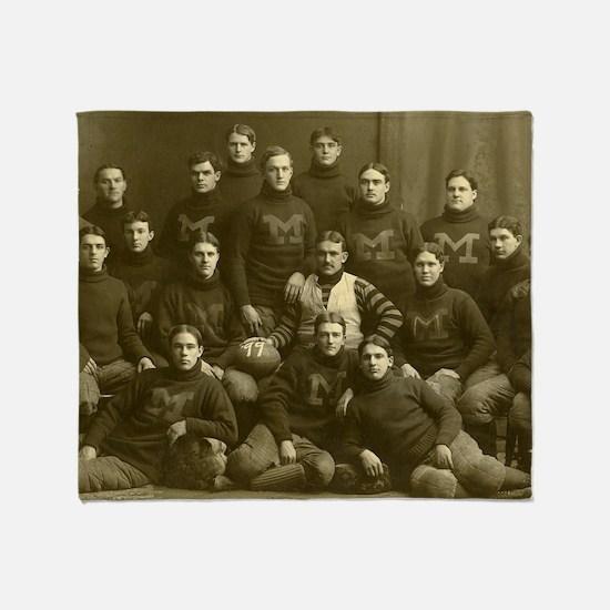 1899 Michigan Wolverines Throw Blanket
