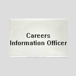 Careers Information Officer Retro Digital Magnets