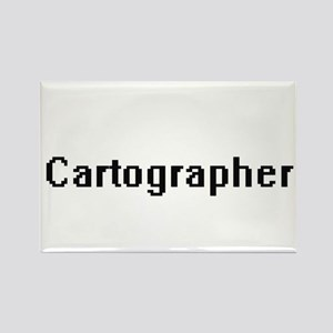Cartographer Retro Digital Job Design Magnets